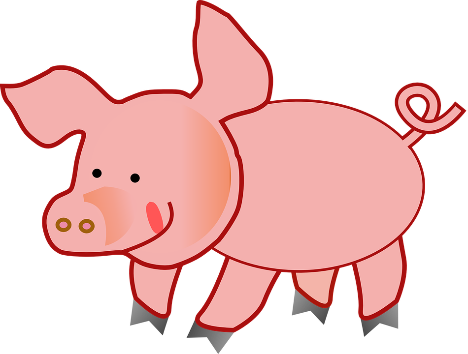 free clip art pink pig - photo #19